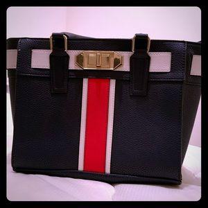 Tote bag medium sized navy blue / red / white